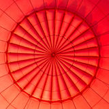 Inside of a hot air balloon. Inside of a red hot air balloon royalty free stock photography