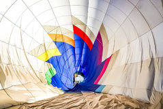Inside a Hot Air Balloon. Take a step inside of a hot air balloon in this image with its geometric patterns royalty free stock photography