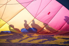 Inside a Hot Air Balloon Royalty Free Stock Photography