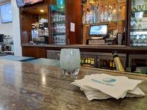 Inside Hotel Bar. North Shore, Hawaii - March 1, 2019: Inside Turtle Bay Resort Hotel Bar.  The Turtle Bay Resort is the major hotel on the North Shore of Oahu stock image