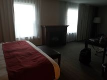 Dark hotel suite royalty free stock images
