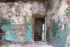 Inside  house after  collapse Royalty Free Stock Photos
