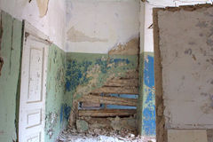 Inside  house after  collapse Royalty Free Stock Image