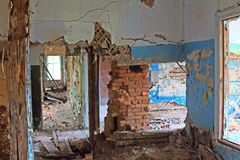 Inside  house after  collapse Royalty Free Stock Photography
