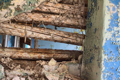 Inside  house after  collapse Royalty Free Stock Photo
