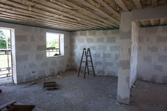 Inside a house in construction Stock Photo
