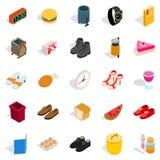 Inside the house icons set, isometric style Royalty Free Stock Photo