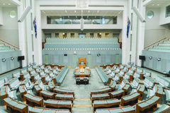 Inside of the House  Representatives, Parliament Royalty Free Stock Image