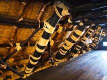 Inside of House at The world heritage Shirakawa-go JAPAN Royalty Free Stock Photos