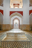 Inside humayuns tomb with marble tomb Stock Images