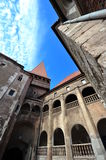Inside the Hunedoara Castle courtyard Stock Photo