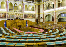 Inside hungarian parliament in Budapest Stock Photography