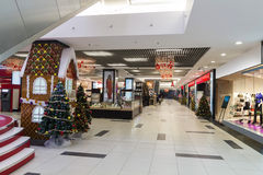 Inside hypermarket. That just opened before christmas Stock Photos