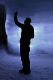 Inside the ice cave Royalty Free Stock Photo