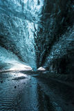 Inside an Iceland Ice Cave at Jokurlsarlon Glacier Royalty Free Stock Photos