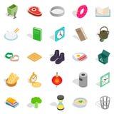 Inside icons set, isometric style Stock Photos