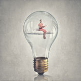 Inside of idea bulb Royalty Free Stock Photo