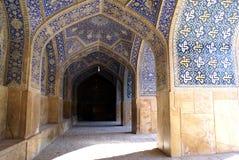 Inside Imam mosque. Imam mosque near square Imam im Esfahan, Iran Royalty Free Stock Photos
