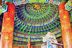 Inside in  Imperial Vault of Heaven on the complex Temple of Hea Stock Photo