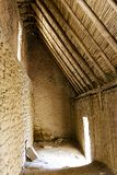 Inside an Inca storage house royalty free stock photo