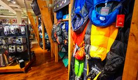 Inside Interior of a Camping Store. Johannesburg, South Africa - July 05 2011: Inside Interior of a Camping Store stock images