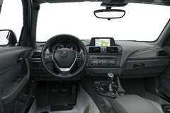 The inside or interior of a modern car Stock Photo