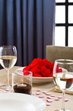 Inside interior table setting Royalty Free Stock Image