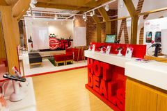 Inside Interior Of A Virgin Mobile Store Stock Photo - Image