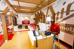 Inside Interior Of A Virgin Mobile Store Editorial Image