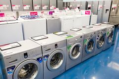 Inside Interior of a White Goods Store royalty free stock image