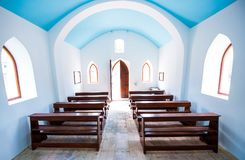 Inside interiors of small generic church. Stock Photography