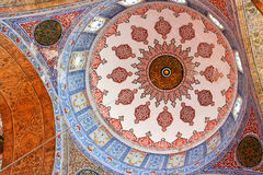Inside the islamic Blue mosque in Istanbul royalty free stock image