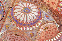 Inside the islamic Blue mosque in Istanbul, Turkey Stock Image