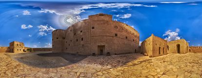 Inside Jabreen Fort stock image