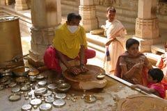 Inside Jain temple Royalty Free Stock Photos