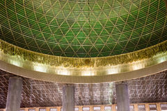 Inside Jakarta mosque. View of the dome and ceiling inside Jakarta mosque Royalty Free Stock Images