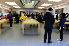 Inside a Japanese Apple Store Royalty Free Stock Image