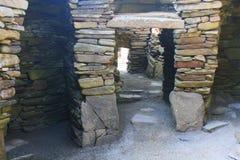Inside prehistoric stone building Stock Photography