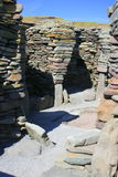 Inside prehistoric stone building Royalty Free Stock Photo