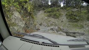 Inside a Jeep on a Nepalese road stock video