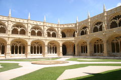 Inside the Jeronimos Monastery. Jeronimos Monastery, Empire Square, Belem, Portugal Royalty Free Stock Photos