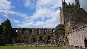 Inside Jerpoint Abbey Thomastown Kilkenny Ireland. Inside the well looked after ruin of Jerpoint Abbey Thomastown Kilkenny Ireland royalty free stock photography
