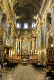 Inside of Jesuit Church is dedicated to Sts. Peter and Paul Stock Image