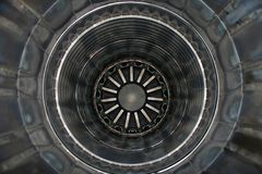 Inside a jet engine. Inside the rear of a jet engine Stock Photography
