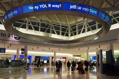 Inside of JetBlue Terminal 5 at John F Kennedy International Airport in New York Royalty Free Stock Photos