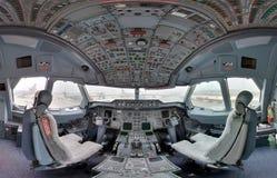 Inside jetliner cockpit Royalty Free Stock Image