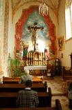 Inside the John Paul II church royalty free stock photo