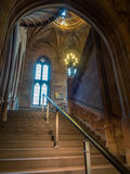 Inside of John Rylands Library in Manchester Stock Images