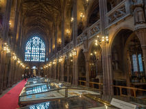 Inside of John Rylands Library in Manchester Stock Photo