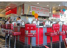 Inside Johnny Rockets Royalty Free Stock Image